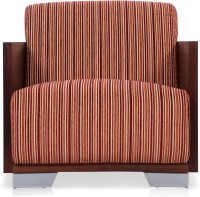 Durian Helena Fabric 1 Seater Sofa(Finish Color - Red)