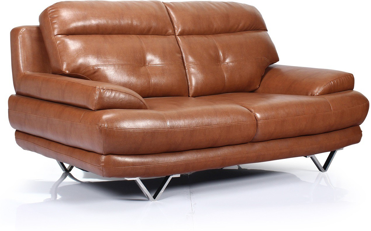 View Homecity Leatherette 2 Seater Sofa(Finish Color - Brown) Furniture (Home City)