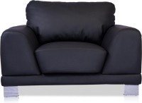 Durian Atlanta Leather 1 Seater Sofa(Finish Color - Jet Black)