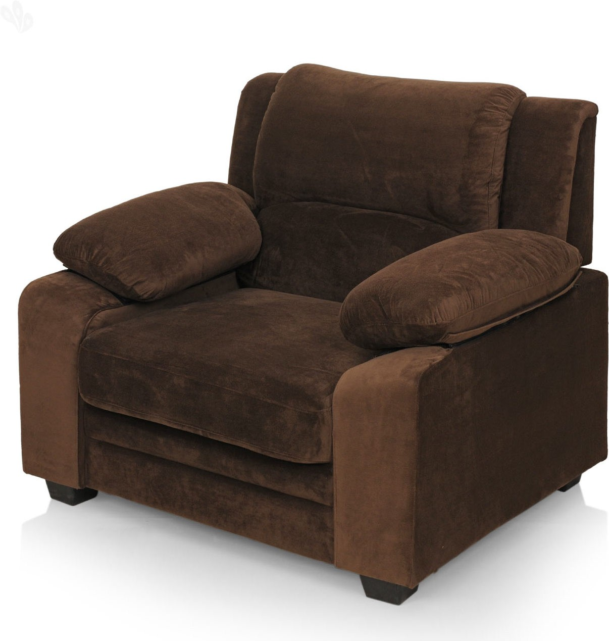 View Royal Oak Magna Fabric 1 Seater Sofa(Finish Color - Brown) Furniture (Royal Oak)