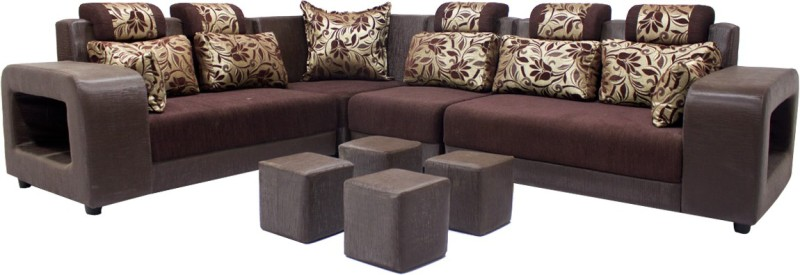 Woodpecker 6 Seater Sectional(Finish Color - Brown)