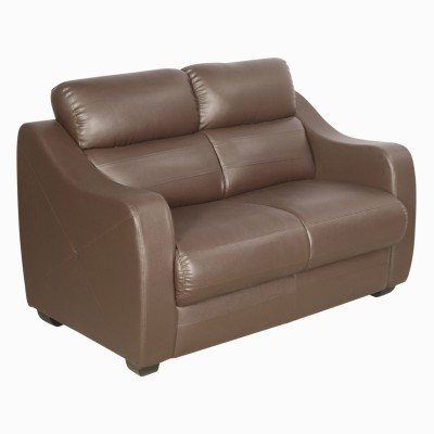 Godrej Interio Vida 2st In S1n Leather Burgd Solid Wood 2 Seater Sofa Finish Color Burgundy