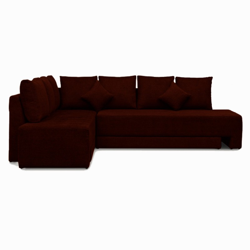 Knight Industry Fabric 5 Seater Sectional(Finish Color - Granet)