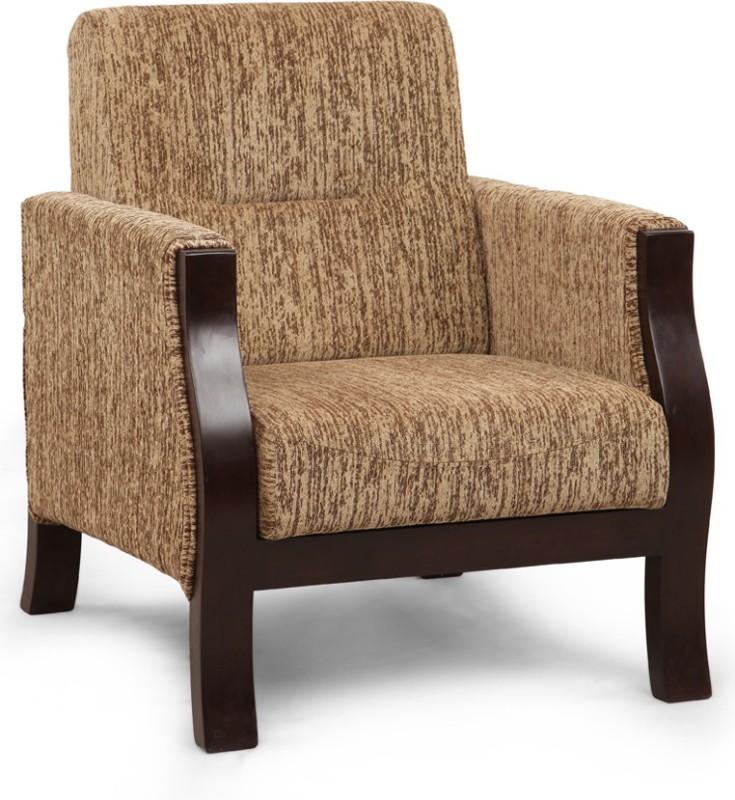 ARRA Solid Wood 1 Seater Sofa(Finish Color - Walnut)
