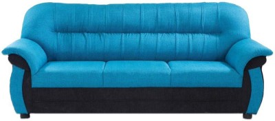 Furnicity Solid Wood 3 Seater Sofa(Finish Color - Blue)