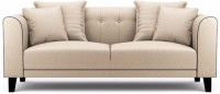 Fabhomedecor Ferris Solid Wood 3 Seater Sofa(Finish Color - Cream)