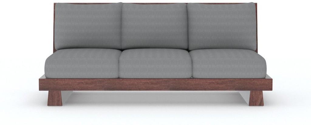 View Tezerac Solid Wood 3 Seater Sofa(Finish Color - Brown) Furniture (Tezerac)