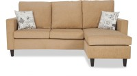 Urban Living ECO LOUNGER Fabric 3 Seater Sofa(Finish Color - Beige)