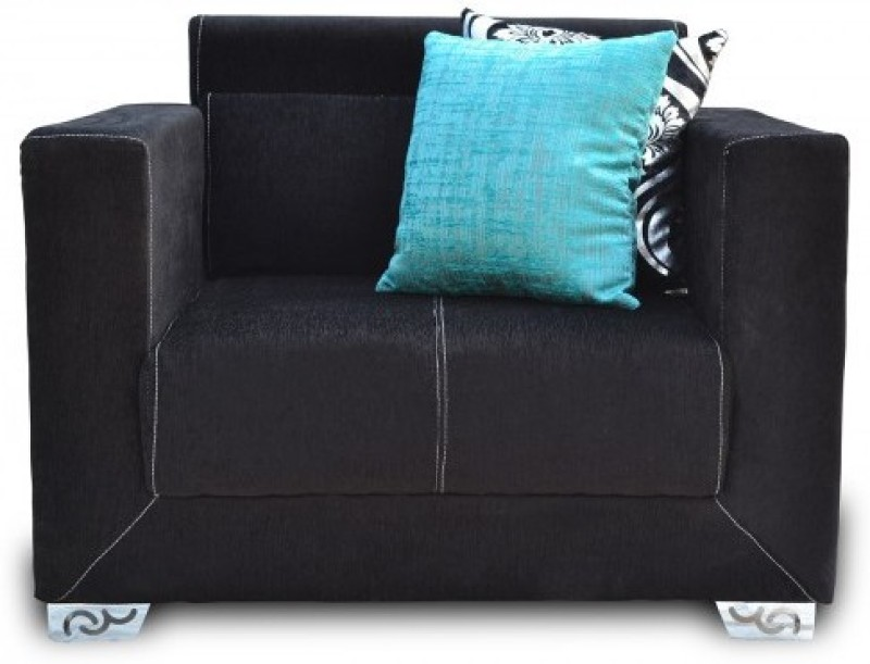 Furnstyl Maxwell Fabric 2 Seater Sofa(Finish Color - Black)