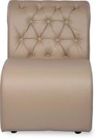 Durian BID/32625 Leatherette 1 Seater Sofa(Finish Color - Muslin Beige)