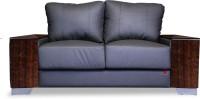 Durian LAREDO/A/2 Leather 2 Seater Sofa(Finish Color - SMOKE GREY)