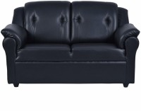 Fabhomedecor York Solid Wood 2 Seater Sofa(Finish Color - Black)