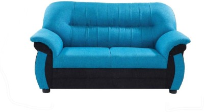 Furnicity Solid Wood 2 Seater Sofa(Finish Color - Blue)