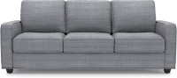 Urban Ladder Apollo Compact Fabric 3 Seater Sofa(Finish Color - Moon Rock Grey)
