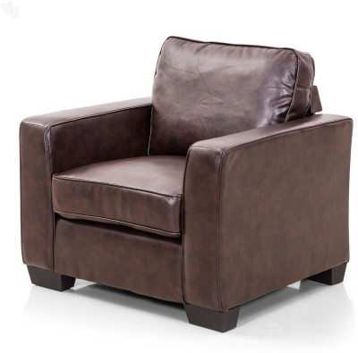 Royal Oak Daisy Leatherette 1 Seater Sofa(Finish Color - Brown)