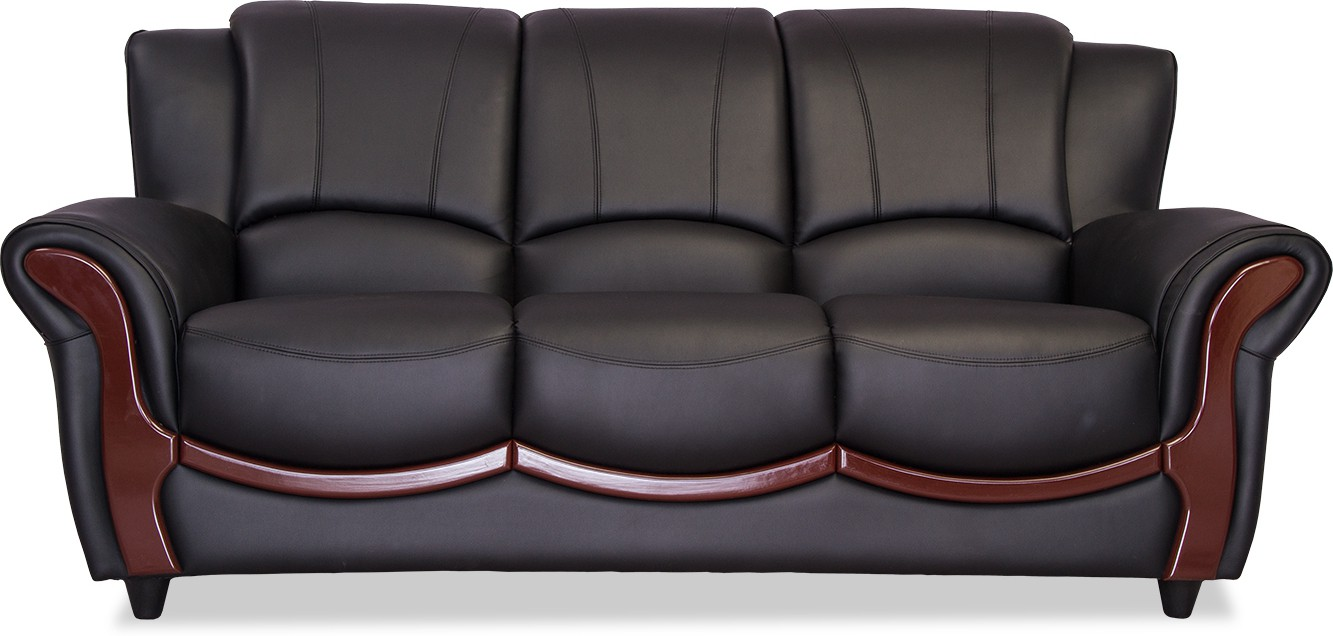 Durian Blos Leatherette 3 Seater Sofa