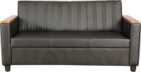 Kurlon Glitz Leatherette 3 Seater Sectional(Finish Color - Black)