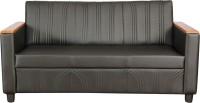 Kurlon Glitz Leatherette 3 Seater Sectional(Finish Color - Black)