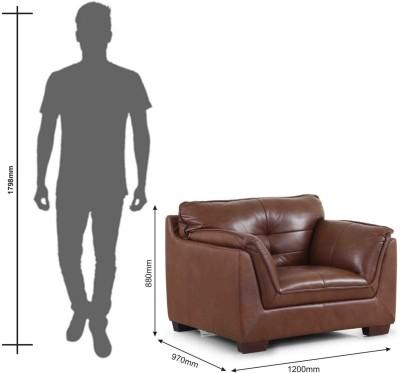 Evok Leather 1 Seater Sofa