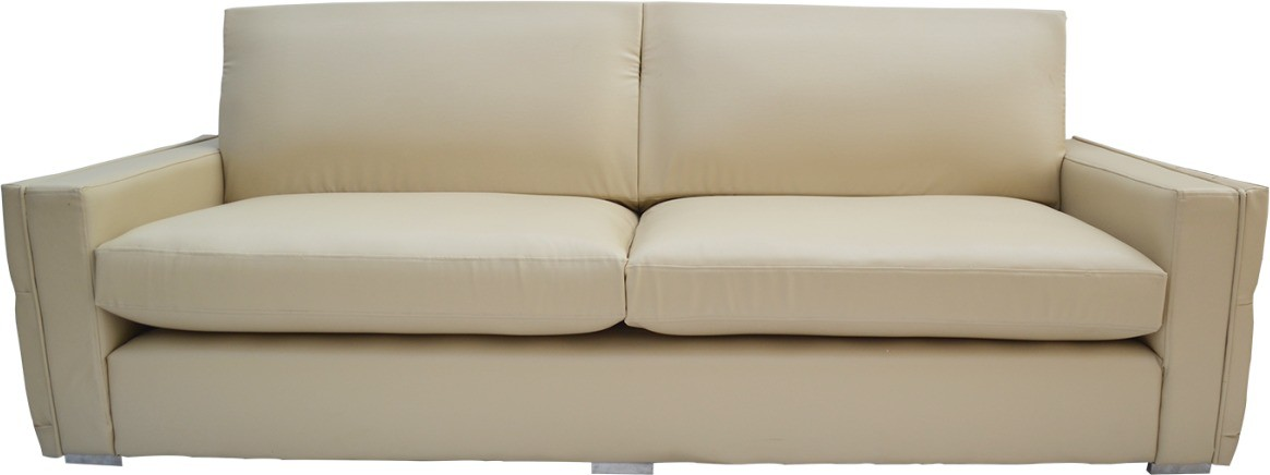 View Furnstyl Parcour Leather 2 Seater Sofa(Finish Color - Beige) Furniture (Furnstyl)