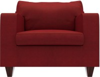 Urban Ladder Walton Fabric 1 Seater Sofa(Finish Color - Sangria Red)