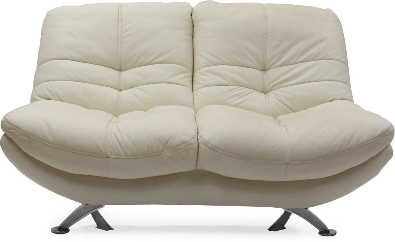 View Evok Austin Leatherette 2 Seater Sofa(Finish Color - White) Price Online(Evok)