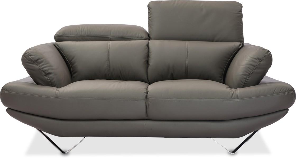 Swell Durian Omega Leather 2 Seater Sofa Finish Color Battleship Evergreenethics Interior Chair Design Evergreenethicsorg