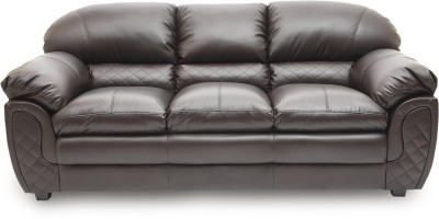 HomeTown Mirage_br Leatherette 3 Seater Sofa