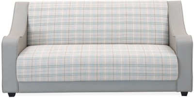@home by Nilkamal Plaid Synthetic Fiber 3 Seater Sofa