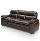 Royal Oak Brio Bonded Leather 3 Seater S...