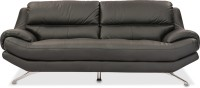 Durian Oliver Leather 2 Seater Sofa(Finish Color - EERIE BLACK)