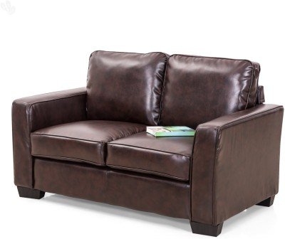 Royal Oak Daisy Leatherette 2 Seater Sofa(Finish Color - Brown)