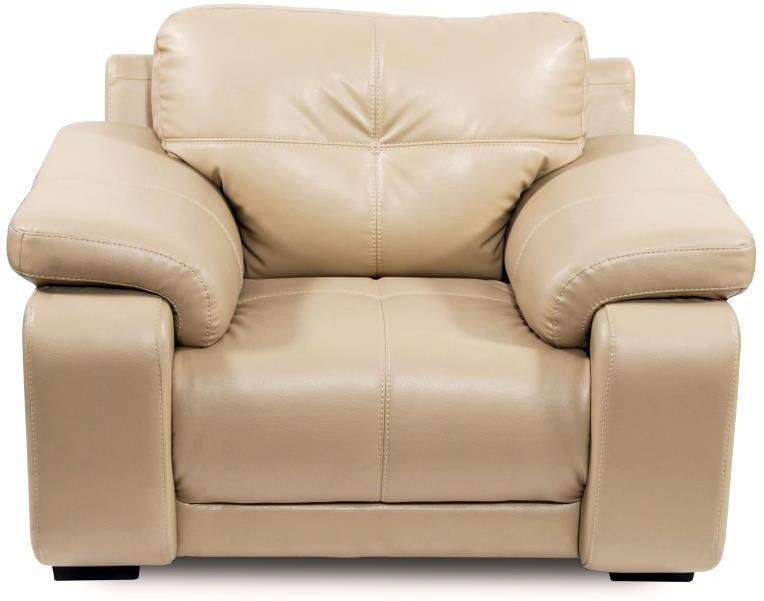 View Home City GLORIA Leatherette 1 Seater Sofa(Finish Color - Beige) Furniture (Home City)