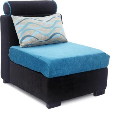 Furnicity Fabric 1 Seater Sofa(Finish Color - Blue)
