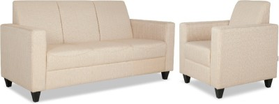 HomeTown Sofa set Fabric 3 + 1 Beige Sofa Set