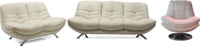 Evok Austin Leatherette 3 + 2 + 1 White Sofa Set