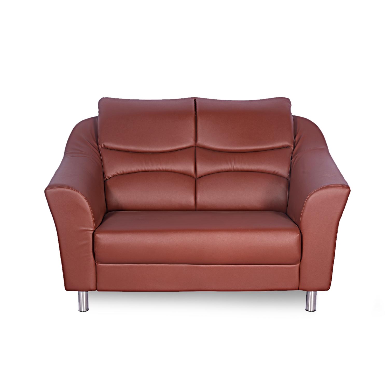 Godrej Interio Diva Leatherette 2 Seater Sofa Finish Color Brown