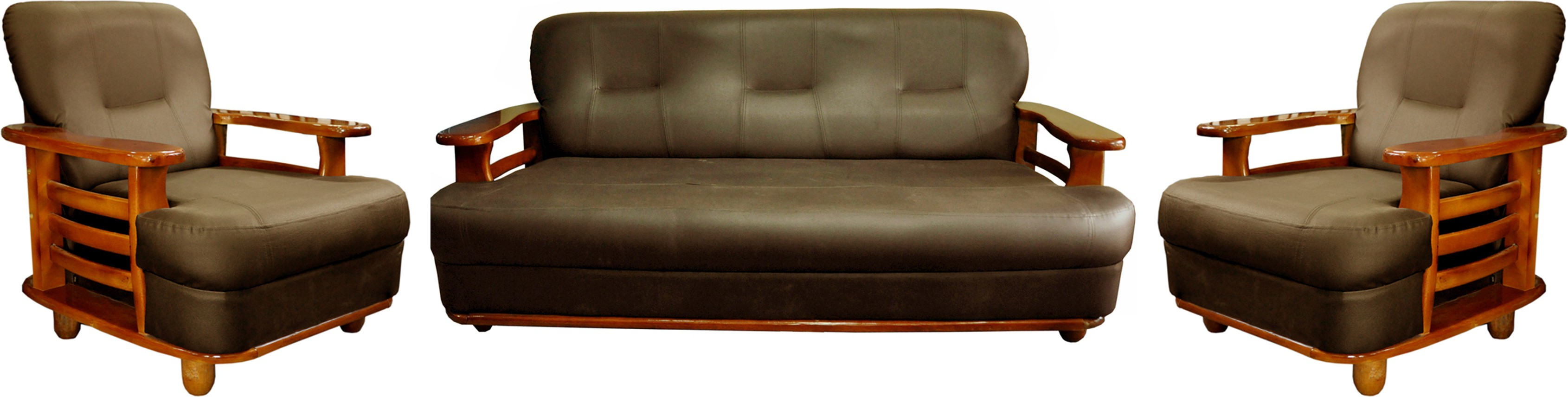 Magnificent Buy Knight Industry Leatherette 3 1 1 Walnut Brown Sofa Cjindustries Chair Design For Home Cjindustriesco