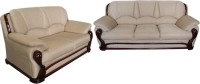 Vintage Ivoria Fabric 3 + 2 MAHOGANY Sofa Set(Configuration - Straight)