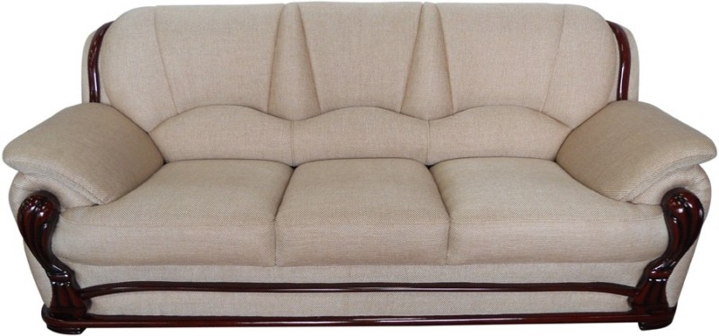 Vintage Ivoria Solid Wood 3 Seater Sofa(Finish Color - MAHOGANY)