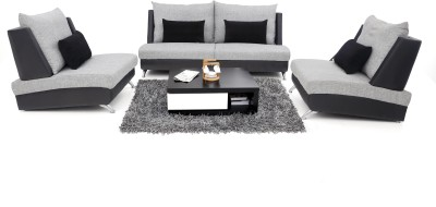 Furnicity Leatherette 2 + 1 + 1 Light Grey Sofa Set(Configuration - Straight)