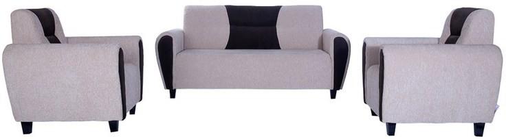 View Kurlon Dazzle Fabric 3 + 1 + 1 Cream Sofa Set(Configuration - Straight) Furniture (Kurlon)