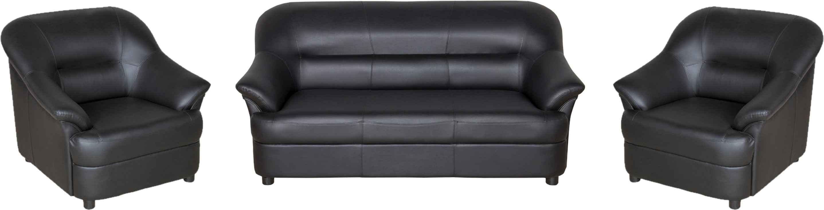 View Sethu Furniture Fabric 3 + 1 + 1 Black Sofa Set(Configuration - Straight) Furniture (Sethu Furniture)