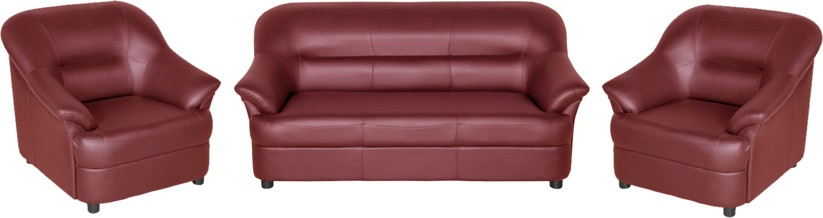 View Sethu Furniture Fabric 3 + 1 + 1 Maroon Sofa Set(Configuration - Straight) Furniture (Sethu Furniture)