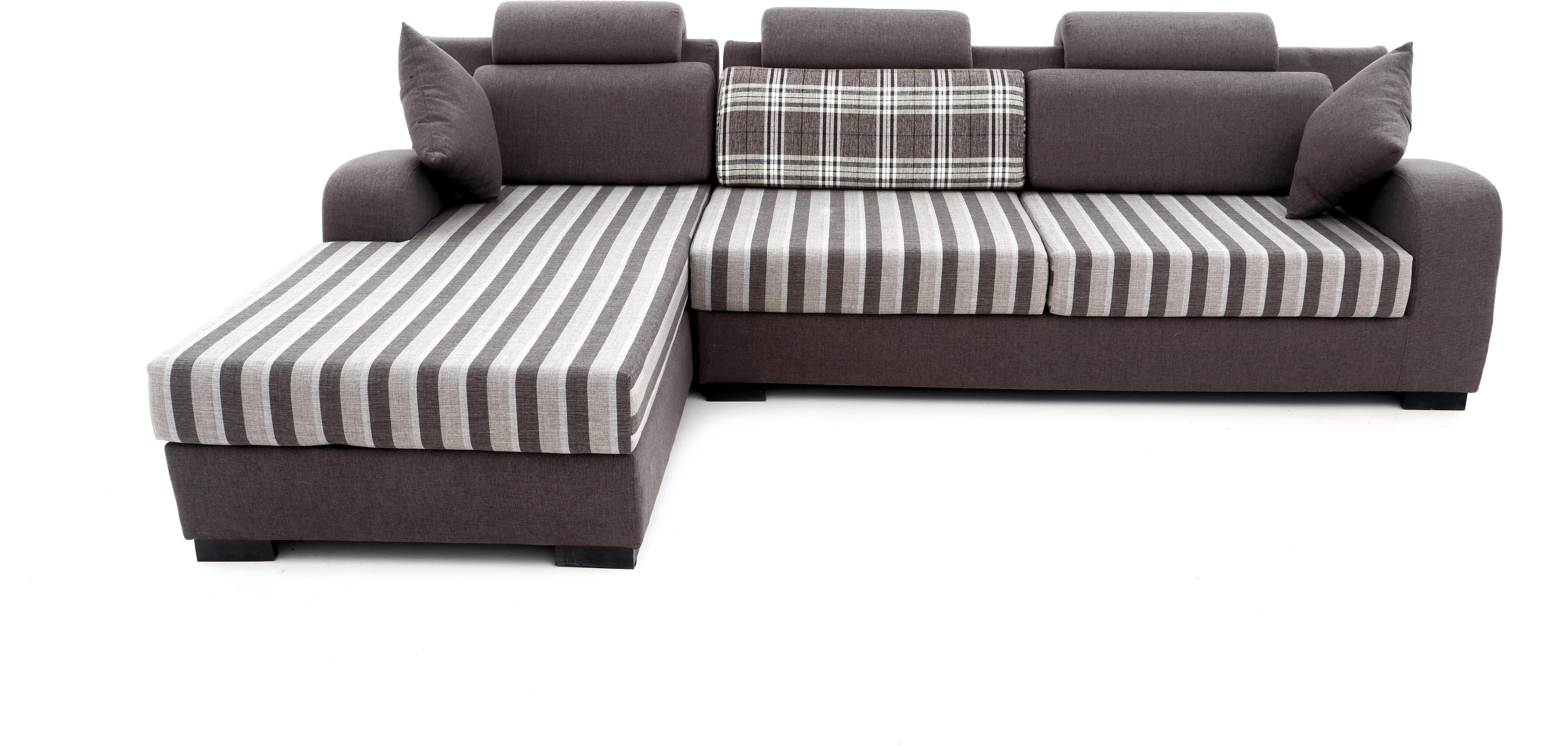 Furnicity Fabric 3 1 Grey Sofa Set Configuration L Shaped