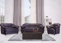 Durian BERRY/55001/C Leatherette 3 + 2 + 1 COFFEE BROWN Sofa Set(Configuration - Straight)