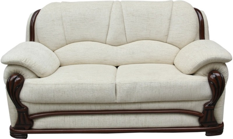 Vintage Ivoria Solid Wood 2 Seater Sofa(Finish Color - WALNUT)