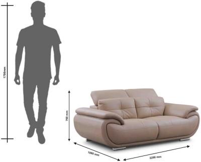 Evok Saturn Half-leather 3 + 2 + 1 Beige Sofa Set