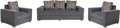 Vintage Regalia Solid Wood 3 + 1 + 1 DARK GREY Sofa Set(Configuration - Straight)