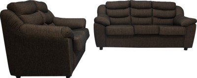 Woodpecker Rose Solid Wood 3 + 2 Black Sofa Set(Configuration - L-Shaped)
